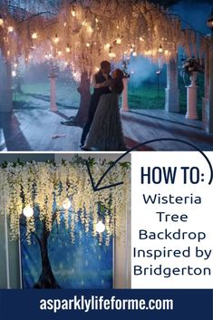 DIY Wisteria Tree Photo Backdrop Inspired by Bridgerton Photo Booth Backdrop, Photo Backdrops, Wisteria Tree, Groundhog Day, Pretty Photos, All Holidays, Child Day, Photo Tree, You Are Awesome