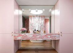 Norwegian Rose bathroom vanity North Bondi II Residence by Tobias Partners Photography © Justin Alexander Bathroom Styling, Bathroom Interior Design, Decor Interior Design, Interior Decorating, Bathroom Designs, Design Interiors, Decorating Ideas, Decor Ideas, Pink Marble