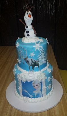 "Themed Parties| Serafini Amelia| Disney's Frozen Themed Party Ideas- Disney ""Frozen"" Cake-Mick's Sweets Frozen cake"