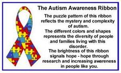 April is Autism Awareness Month.  The CDC has recently announced that 1 in 88 children; 1 in 55 boys; in the USA is affected by Autism.  Awareness is the start...action will move us forward toward better diagnosis, better services, treatments an hopefully a cure!  You can help complete the puzzle.  Go to Autism Speaks for information and opportunities...