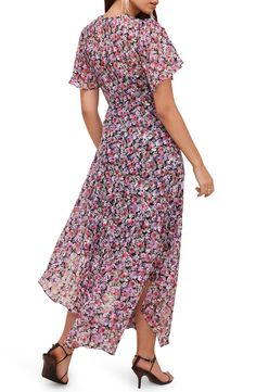 ASTR the Label Floral Print Dress | Nordstrom Banana Nutrition, Flowery Dresses, Short Sleeves, Short Sleeve Dresses, Lace Midi Dress, Nordstrom Dresses, Pink Lace, Flutter Sleeve, Floral Prints