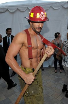 Joe-manganiello-Fireman Movie Magic Mike!!! OH my and Ladies he is from Pittsburgh!