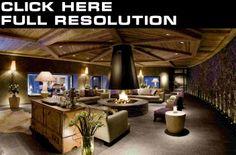 Design de interiores Sala de estar Divã Lareira-Amazing...