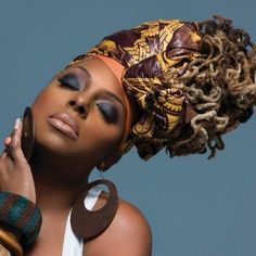 Ledisi's headwrap is gorg! ~African Prints, African women dresses, African fashion styles, African clothing, Nigerian style, Ghanaian fashion ~DK