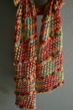 Beautiful #knit #scarf for fall.  Free #pattern!