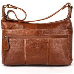 Yahoho Women's Cowhide Genuine Leather Small Cross Body Shoulder Bag Vintage Style Brown - http://leather-handbags-shop.com/yahoho-womens-cowhide-genuine-leather-small-cross-body-shoulder-bag-vintage-style-brown/