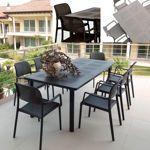 Nardi® Libeccio 88 in. x 40 in. Table with Bora Armchairs