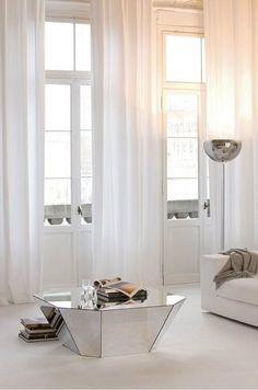 Mirrored furniture for a modern interior design #luxuryhomes #housedesign #contemporaryfurniture
