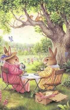 Bunny picnic tea