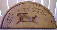 Primitive Pennsylvania Dutch Hand Carved Wood Butter Mold w Bunny Rabbit Design Carved Wood, Hand Carved, Wood Cookie, Butter Molds, Churning Butter, Pennsylvania Dutch, Needful Things, Country Primitive, Bunny Rabbit