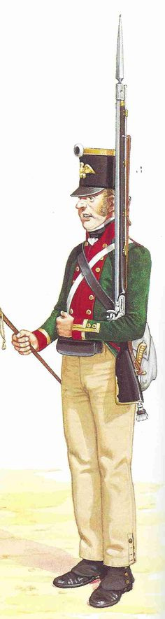 Prussian NCO 5th Fusilier Battalion 1806.  The Prussians had twenty-four  fusilier battalions formed into eight brigades. They were not attached to other regiments.