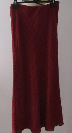 Retro Laura Ashley Rouge Maxi Skirt 1970 Fully Lined.