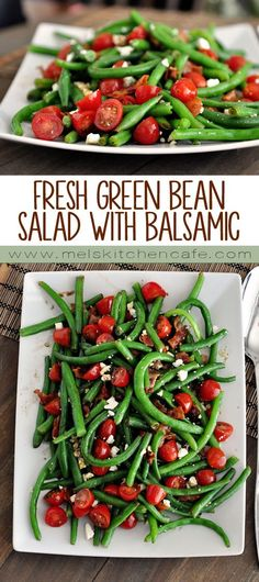 Fresh Green Bean Salad with Balsamic Dressing will be the best green-bean-thing to ever pass your lips this summer.This Fresh Green Bean Salad with Balsamic Dressing will be the best green-bean-thing to ever pass your lips this summer. Vegetable Recipes, Vegetarian Recipes, Cooking Recipes, Healthy Recipes, Bean Salad Recipes, Chicken Recipes, Baked Chicken, Fresh Salad Recipes, Summer Salad Recipes