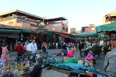 Marrakech: By hot afternoon, the shady markets in Djemaa el-Fna fill with life. Bazaars and souks crawl with shoppers looking for a deal. Locals rub shoulders with expats and tourists for rugs, spices and general goods -- including iguanas and parrots... presumably not for pets... Gah!  #morocco #djemaaelfna #marrakech #backpacking #travelblog #travelblogger #africa #northafrica #souk #bazaar #gueliz #moroccan