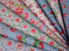 8 Cath Kidston Haberdashery Fabric 10cm Squares for Patchwork Craft Quilting / Bundle / Charm Pack / Scraps / Remnant / Card Making. £1.99, via Etsy.