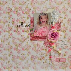 Adore - MCS LE Kit Feb'14 - Kaisercraft 'Key to my Heart' col and Prima flowers and gorgeous Resin Angel from Ingvild Bolme