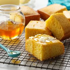 Honey Cornbread Recipe -It's a pleasure to serve this moist cornbread to family and guests. Honey gives it a slightly sweet taste. Most people find it's difficult to eat just one piece. -Adeline Piscitelli, Sayreville, New Jersey