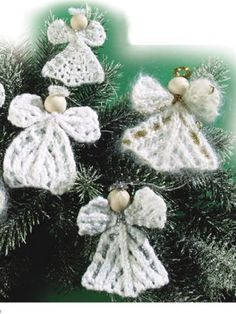 These versatile little angels can be used either as ornaments or as lapel pins. Size: small(large). Skill Level: Intermediate