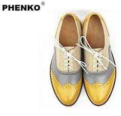 nieuwe 2015 hete koop met de hand gemaakt echt leer klassieke kwaliteit platte schoenen vrouwen oxford schoenen voor vrouwen winter schoenen vrije verschepen in   van oxford op AliExpress.com   Alibaba Groep