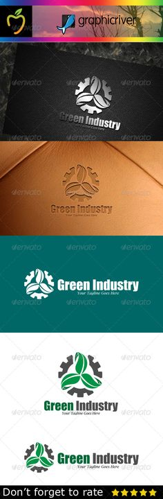 Green Industry Logo — Vector EPS #nature #circle • Available here → https://graphicriver.net/item/green-industry-logo/7783419?ref=pxcr