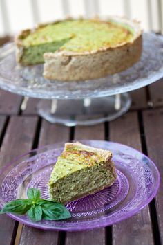 Torta rustica integrale con pesto di zucchine e ricotta