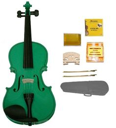 GRACE 116 Size Green Acoustic Violin with CaseRosin2 Sets Strings2 Bridges2 BowsTuner >>> Visit the image link more details. Note:It is affiliate link to Amazon.