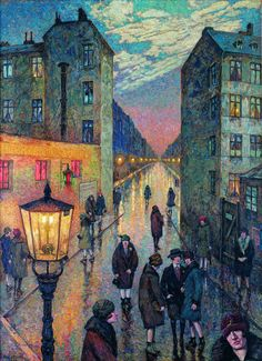Corner of the Big City - Hans Baluschek,1929