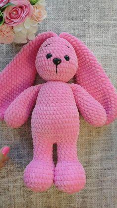 Crochet Easter, Crochet Bunny Pattern, Crochet Animal Patterns, Stuffed Animal Patterns, Crochet Patterns Amigurumi, Crochet For Kids, Amigurumi Doll, Crochet Animals, Crochet Dolls