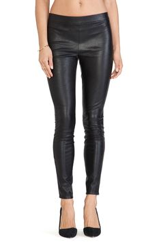 BB Dakota Tansy Faux Leather Legging in Black | REVOLVE