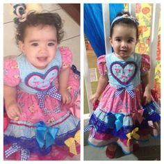 Instagram media miudasatelie - Belinha linda vestida de matuta para prestigiar a festinha do irmãozinho na escolinha!!! #miudasatelie @milenapalmeira