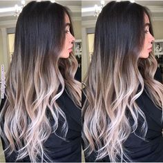 Are you going to balayage hair for the first time and know nothing about this technique? We've gathered everything you need to know about balayage, check! Brown Ombre Hair, Brown Blonde Hair, Brunette Hair, Dark Hair, Black Hair With Ombre, Blonde Ambre Hair, Dark To Light Hair, Platinum Blonde Ombre, Long Ombre Hair