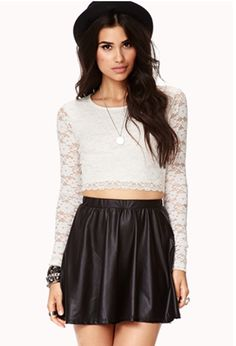 Cropped Lace Top