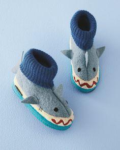 bddf3fbb1ad4 Shark Boiled Wool Slipper Boots from Garnet Hill Kids Slippers