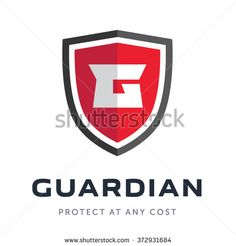 Security company logo ready to use. Abstract symbol of security. Shield Icon, Shield Logo, Security Logo, Security Companies, Web Design, Logo Design, Graphic Design, Design Ideas, Crossfit Logo