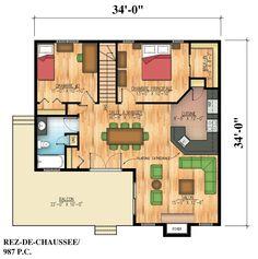 Plans de maison rdc du mod le senior maison for Plan de maison pour handicape