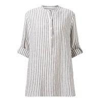 East Stripe Oversize Shirt WHITE