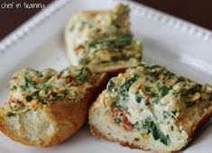 Sundried Tomato Spinach Dip:  1 (8 oz) block cream cheese, softened  1 cup thawed frozen spinach  1/4 cup sun dried tomatoes  1/4 cup Parmesan cheese  1/4 tsp. salt  2 tsp. chopped garlic  Mix.  Serve.