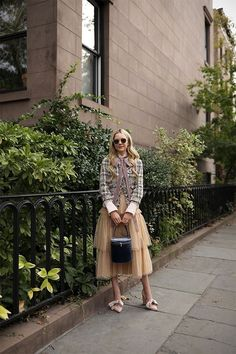 Top: See by Chloe (last seen here). Skirt: REDValentino (very similar here and here under $100). Bag: Staud (last seen here). Tweed Coat: Jcrew (super old, but love this current one). Shoes: Ulla Johnson (Animal...Read More
