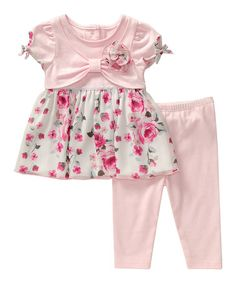 Look what I found on #zulily! Pink Floral Tunic & Leggings - Infant #zulilyfinds