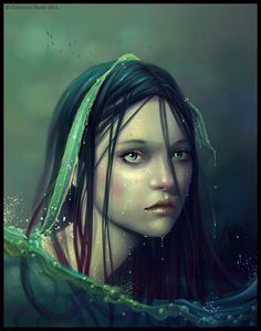 ♡    In Greek Mythology, the Naiads or Naiades were a type of  nymph who presided over fountains, wells, springs, streams, and brooks. They were known to be very ancient spirits that inhabited the still waters of marshes, ponds and lagoon-lakes. The essence of a Naiad was bound to her spring, so if a Naiad's body of water dried, she would die.