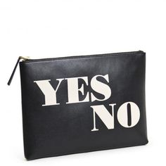 Yes No Maybe So Reversible Pouch