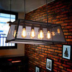 MAX 60W island Light ,  Rustico/campestre / Retrò Galvanizzato caratteristica for Stile Candela MetalloSalotto / Camera da letto / Sala - EUR €274.39