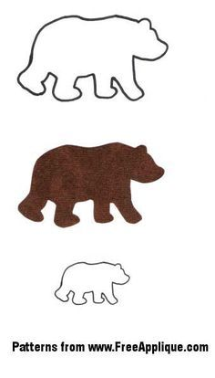 Animal Patterns for Applique, Quilting, Crafts or Clipart Free Applique Patterns, Sewing Appliques, Applique Quilts, Embroidery Applique, Machine Embroidery, Quilting Patterns, Felt Patterns, Quilting Templates, Simple Embroidery