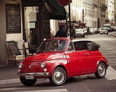 Photographie d'art, photographie, Paris, voiture Vintage photography, rouge, voiture plus mignon dans Paris 8 x 10 giclée de beaux-arts