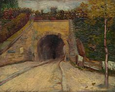 Roadway with Underpass by Vincent van Gogh, 1887, Guggenheim Museum Size: 32.7x41 cm Medium: Oil on cardboard, mounted on panel Solomon R. Guggenheim Museum, New York Thannhauser Collection, Gift, Justin K. Thannhauser, 1978
