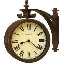 howard miller two sided wall clocks indoor outdoor clock obrien