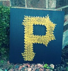 Pittsburgh Pirates String Art 16inX16in on Etsy, $35.00