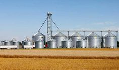A collection of Sioux Steel bins in IA.