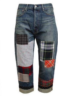 Junya Watanabe Patchwork Denim Jeans Profile Photo