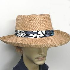 A Moroccan straw golf hat with print band that delivers a handsome look in men s  hats 080eb91d78b
